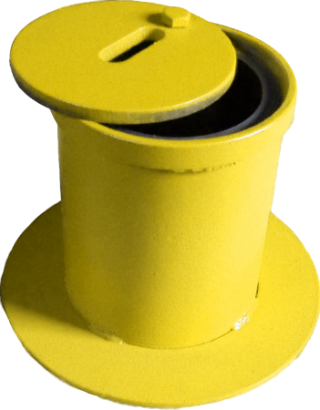 Стальной ковер газовый (желтый)