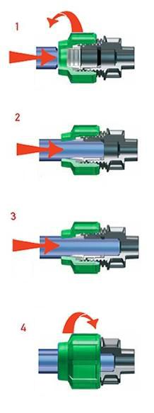 Монтаж компрессионного фитинга