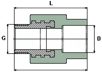 Комбинированная муфта PPR (водопровод)