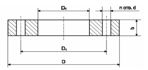 чертеж расточного фланца